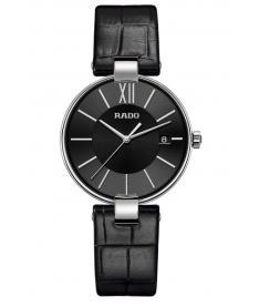 Montre Femme Rado Coupole R22852155 Bracelet Cuir Noir