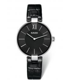 Montre Femme Rado Coupole R22850155 Bracelet Cuir Noir