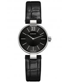 Montre Femme Rado Coupole R22854155 Bracelet Cuir Noir