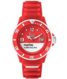Montre Mixte Ice Watch Ice-Pantone Color PANBCFIRUS13 Bracelet Silicone Rouge