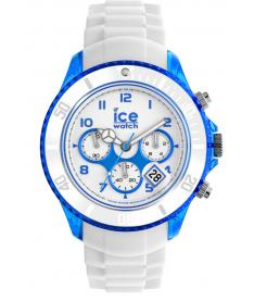 Montre Homme Ice Watch Ice-Chrono Party CHWBEBBS13 Bracelet Silicone Blanc