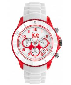Montre Homme Ice Watch Ice-Chrono Party CHWRDBBS13 Bracelet Silicone Blanc