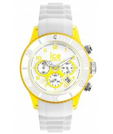 Montre Mixte Ice Watch Ice-Chrono Party CHWYWUS13 Bracelet Silicone Blanc