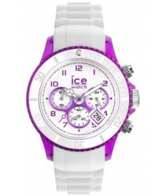 Montre Mixte Ice Watch Ice-Chrono Party CHWPEUS13 Bracelet Silicone Blanc