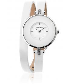 Montre Femme Pierre Lannier 121H600 Bracelet Cuir Blanc