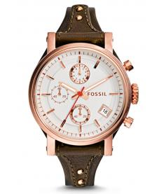 Montre Femme Fossil Original Boyfriend ES3616 Collection Original Boyfriend Bracelet Cuir Marron