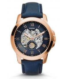 Montre Homme Fossil Automatic ME3054 Collection Automatic Bracelet Cuir Bleu