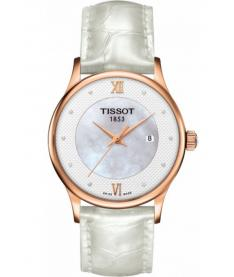 Montre Femme Tissot Rose Dream Quartz T9142107611600 Bracelet Cuir Blanc