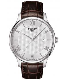 Montre Homme Tissot Tradition T0636101603800 Bracelet Cuir Marron