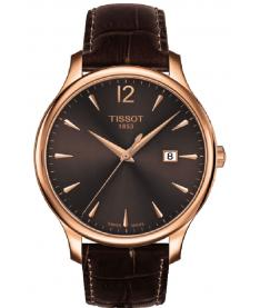 Montre Homme Tissot Tradition T0636103629700 Bracelet Cuir Marron
