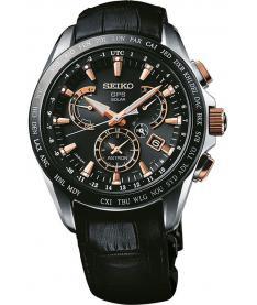 Montre Homme Seiko Astron SSE061J1 Bracelet Crocodile Noir