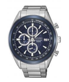 Montre Homme Seiko Sport Chronographe SSB177P1 Bracelet Acier