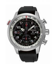 Montre Homme Seiko Sport Chronographe Solar SSC351P1 Bracelet Silicone