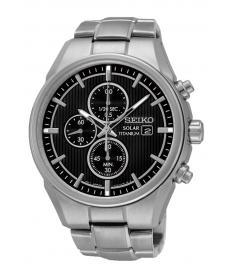 Montre Homme Seiko Sport Chronographe Solar SSC367P1 Bracelet Titane