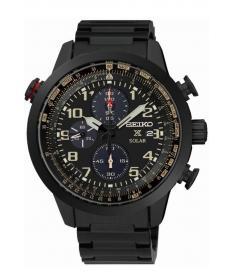 Montre Homme Seiko Sport Chronographe Solar SSC419P1 Bracelet Acier