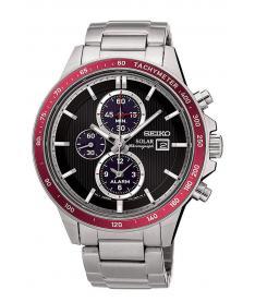 Montre Homme Seiko Sport Chronographe Solar SSC433P1 Bracelet Acier