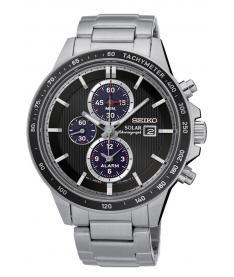 Montre Homme Seiko Sport Chronographe Solar SSC435P1 Bracelet Acier