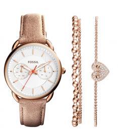 Coffret Montre Femme Fossil  es4021SET Bracelet Cuir