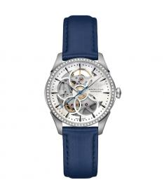 Montre Femme Hamilton Jazzmaster Viewmatic Skeleton Lady Diamants h42405991 Bracelet Cuir