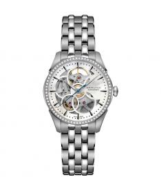 Montre Femme Hamilton Jazzmaster Viewmatic Skeleton Lady Diamants h42405191 Bracelet Acie1