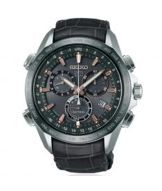 Montre Homme Seiko Astron SSE023J1 Collection Astron Bracelet Cuir Crocodile Noir