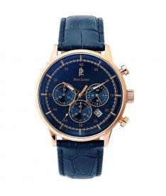 Montre homme Pierre Lannier 225D466 bracelet Cuir bleu