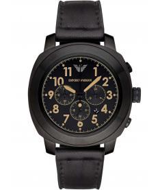 Montre Homme Armani AR6061 Bracelet Cuir Noir
