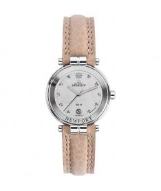 Montre Femme Michel Herbelin Newport Diamants 14255/89SA B racelet Cuir