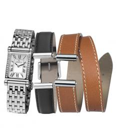 Montre Femme Michel Herbelin Antares Diamants COF.17048/26YB01NG Coffret Bracelets Interchangeables