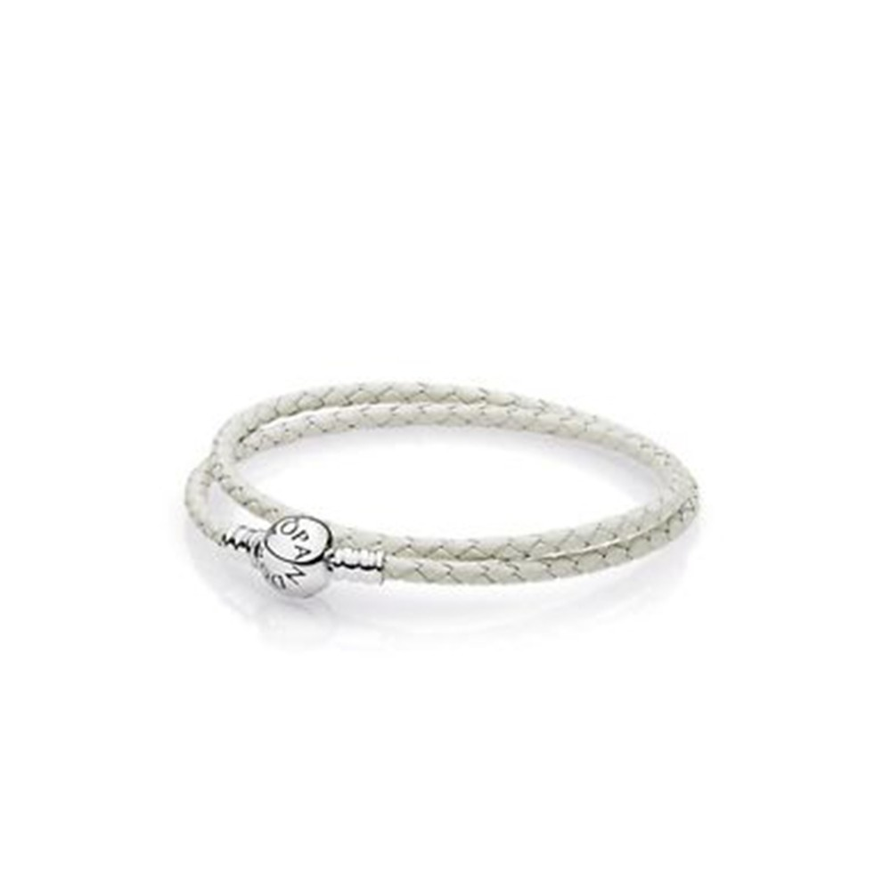bracelet cordon cuir pandora