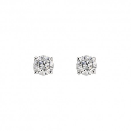 Boucles d'oreilles puces - Diamant 0,23 ct - Or 750