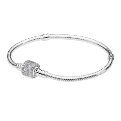 Bracelet à charms Moments en Argent 925/1000, Fermoir Signature PANDORA 590723CZ