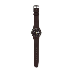 Montre Swatch blue browny mixte SUOC704