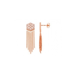 Boucles d'oreilles femme EOL collection Arrow en plaqué or rose TSWM09Z