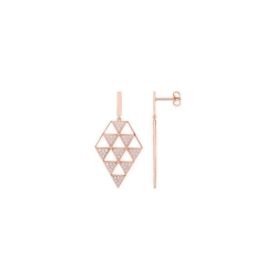 Boucles d'oreilles femme EOL collection Arrow en plaqué or TSWM16Z
