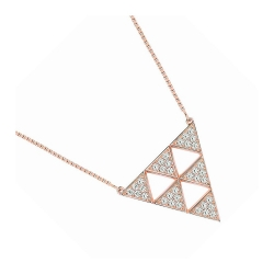 Collier femme EOL collection Arrow en plaqué or rose TSCM16Z42