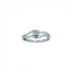 Solitaire diamant 0,01 ct fantaisie AG925