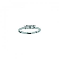 Bague trilogy diamant 0,03 ct AG925