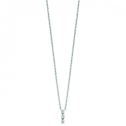 Collier trilogy diamants 0,01 ct AG925