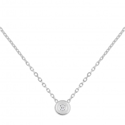 COLLIER DIAMANT 0,02 ct OR375