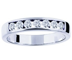 alliance mariage diamants or blanc