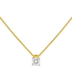 Collier diamant or 750/000