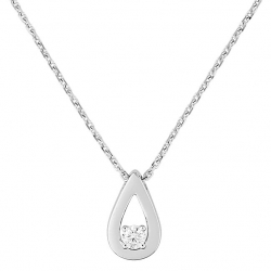 Collier goutte solitaire dt 0,08 ct