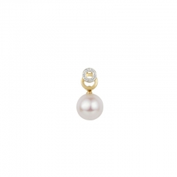 Pendentif AKOYA 8/8.5 MM OR BLANC 750 DIAMANTS 0.022 CT