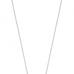 Collier ROND OR BL Diamant 0,085 CT
