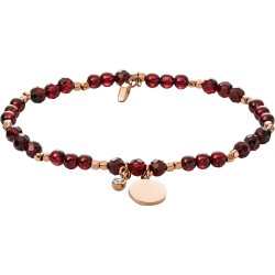 bracelet fossil mixte iconic rouge