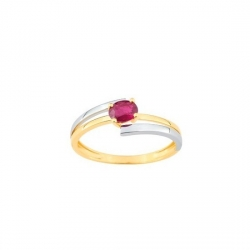 Bague rubis- Or