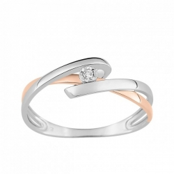 Bague diamants 0.015 ct