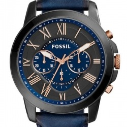 Montre Homme Fossil Grant FS5061 Collection Grant Bracelet Cuir Marron