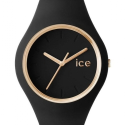 Montre Femme Ice Watch Ice Glam ICEGLBKSS14 Bracelet Silicone